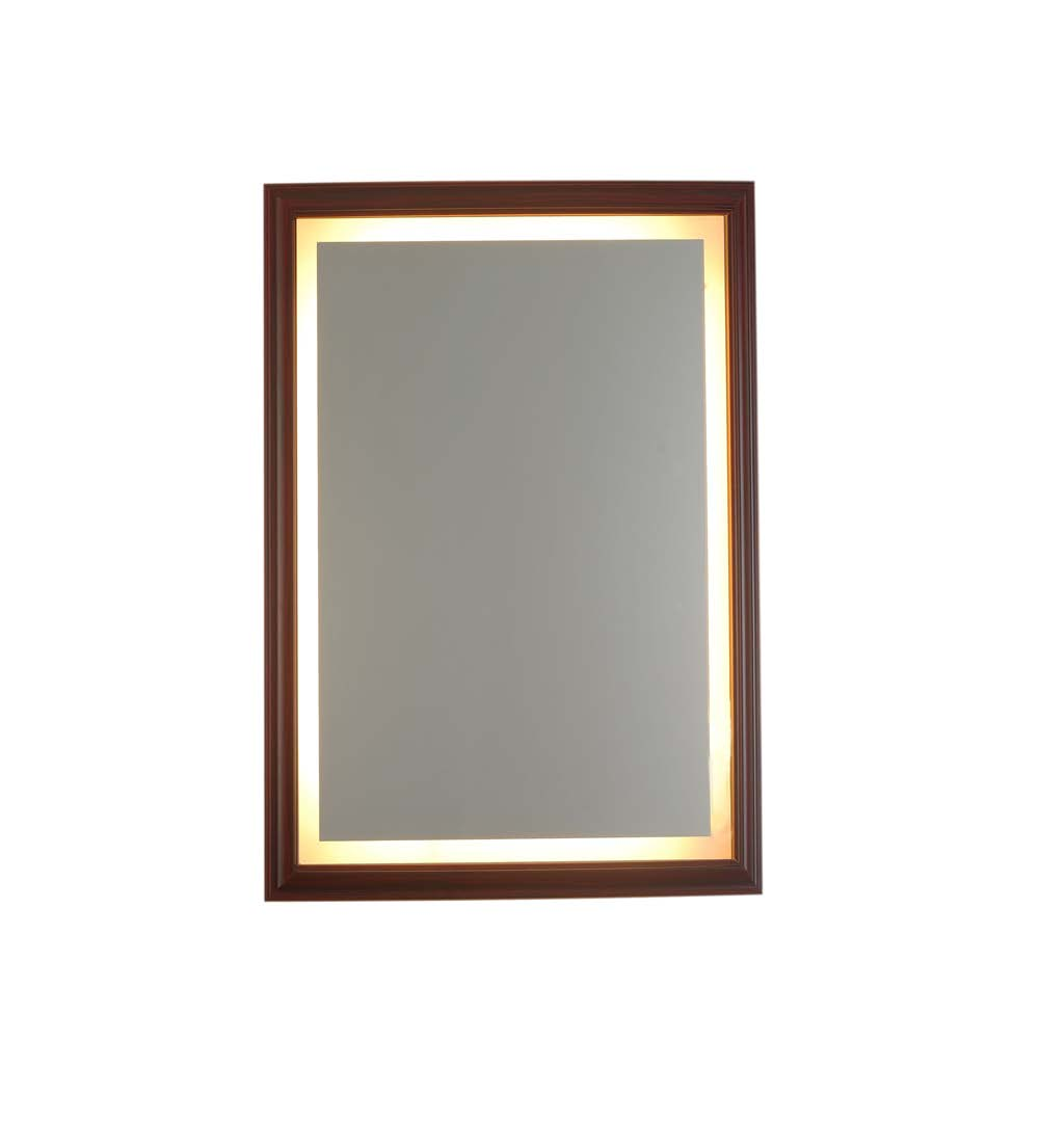 Led Vanity Mirror With Wooden Frame